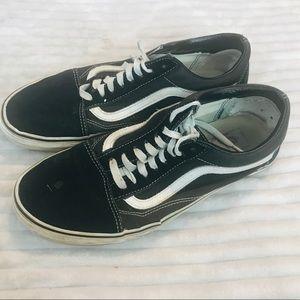 Vans Old Skool Black Low Top Skate Shoes size 10